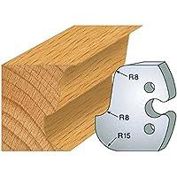 224: Juego de 2 grilletes doucine ht 50 mm, para herramientas entr'plot eje 24 mm