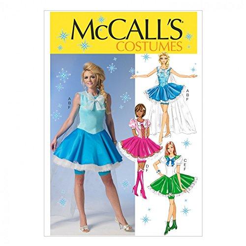 McCall 's Damen Schnittmuster 7101Elsa Ice Princess inspiriert Kostüm + Craft Guide (Nähen Elsa Kostüm)