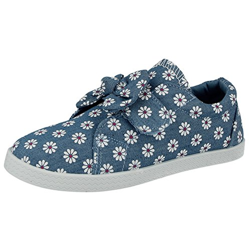 Ladies Girls Kids Canvas Low Top Lace up Pumps Plimsoll Casual Sneakers Trainers Shoes Size 10 Infant -UK 9