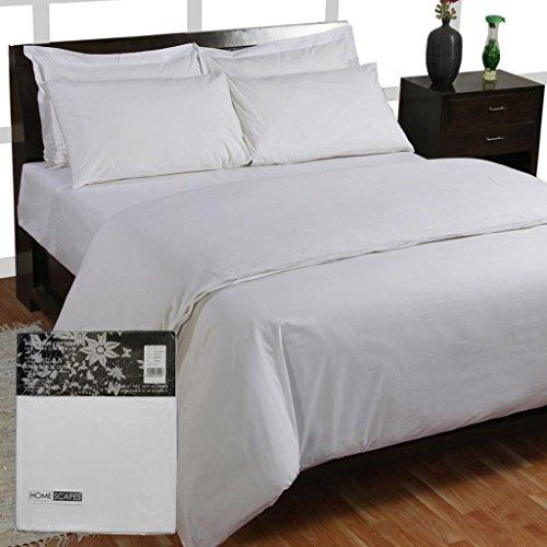 Homescapes – Taie d'oreiller avec volant Blanc 50 x 90 cm – 100% coton – 200 fils