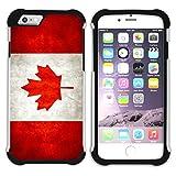 Graphic4You Vintage Uralt Flagge Von Kanada Kanadier Design Hart + Weiche Kratzfeste Hülle Case Schale Tasche Schutzhülle für Apple iPhone 7 Plus/iPhone 8 Plus