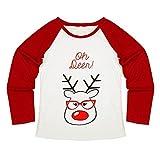 Baby Mädchen Junge Kleidung T-Shirt übersteigt Blusen-Hosen-Pyjamas-Weihnachtsset-Familien-Kleidung