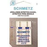Stretch Zwillingsnadel Doppelpack130/705 4,0/75 Schmetz Flachkolben für Nähmaschinen