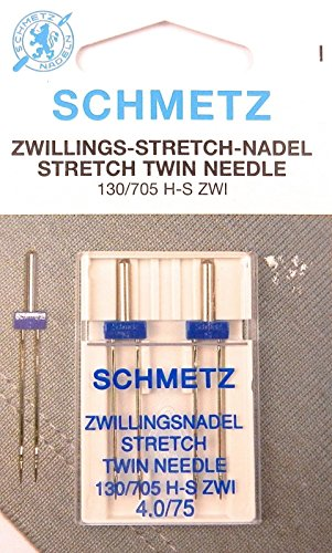 Schmetz Stretch Zwilling Aguja doble 130/705 4