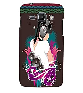 ColourCraft Music Girl Back Case Cover for SAMSUNG GALAXY ACE 3
