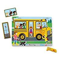 Melissa & Doug 739 Ahşap Sesli Yapboz, The Wheels On The Bus