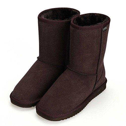 CRAVOG Frauen flache Lace Up Pelz gefütterte Winter Martin Stiefel Schnee Stiefeletten Schuhe (Boot Up Lace Winter)