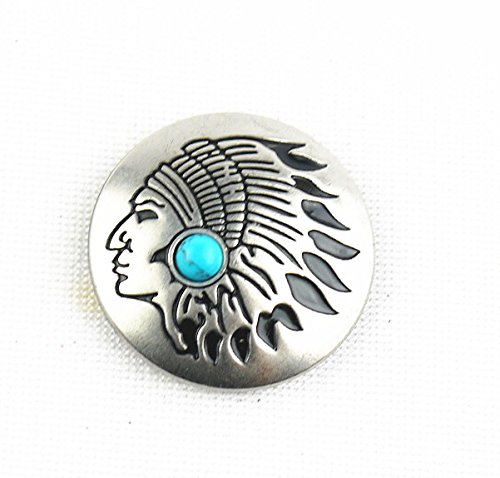 Magic Show 1-1 / 8 '' (3,0 cm) Natives Concho Antik-Silber w / Stone West Concho TO209