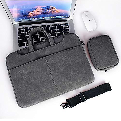 Leichte und tragbare wasserdichte Laptoptasche Stylische leichte Laptoptasche - Dunkelgrau -15.4inch -