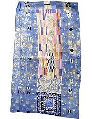 """Nella-Mode Traumhafter SEIDENSCHAL Seidentuch Kunstdruck nach Klimt: Detail aus dem """"Stoclet Fries"""" blickdichte Seide; 160x43 cm"""