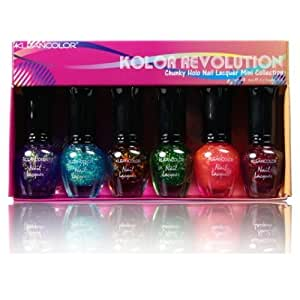 KLEANCOLOR Nail Lacquer Mini Collection - Kolor Revolution - Chunky Holo - Kolor Revolution
