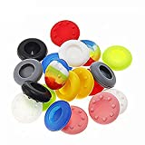 SwirlColor 10 Pairs Replacement Silicone Joystick Thumb Stick Grips Caps Cover for PS4 PS3 PS2 Xbox One/360 Game Controller