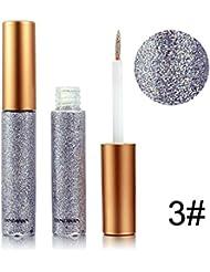 Étincelant Glitter Liquid Eyeliner Maquillage Yeux Coloré Eye Liner Longue Durée et Imperméable à l'Eau pour Halloween...