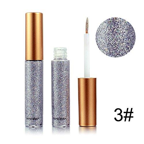 Ruier-Hui 10 Farben Essential Sektion Glitzer und Schimmer Wasserdichte Eyeliner Metallic Pigment Hochpigmentierte Glitzer Liquid Eyeliner ()