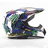 Unbekannt XG Helm Personality Four Seasons Motocross Helme Herren Damen Akku Auto Mountain Bike Full Helmet DH Downhill Pirate, L, L(57
