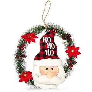 com-four® Corona de Navidad con
