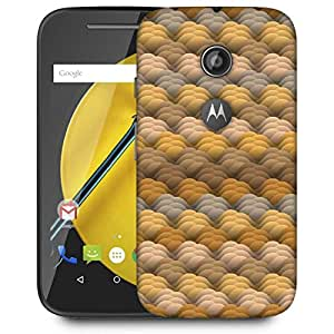 Snoogg endless texture in warm colors Designer Protective Back Case Cover For Motorola Moto E2
