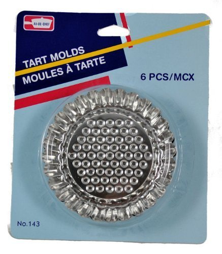 Lot of 6 Mini Flan Pan 3 1/2 Tart Molds Stainless by Symak Flan Mold Pan
