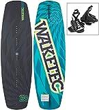 WAKETEC Wakeboard WildRide 138 mit Onset Bindung, Package für Anfänger und Hobby Fahrer, 50-90+ kg, leicht zu Fahren, schwarz blau
