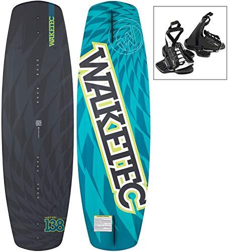 WAKETEC Wakeboard-Set WildRide 138 cm mit Onset Bindung, Package für Anfänger und Fortgeschrittene, leicht zu Fahren, Körpergewicht 50-90+ kg, Kinder Erwachsene Einsteiger Set, Größe:L-XL Wakeboard
