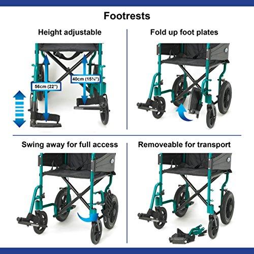 Days Escape Lite Aluminium Wheelchair, Racing Green - Standard