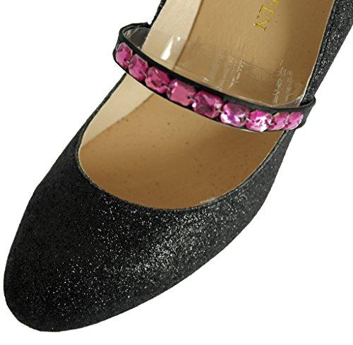 Cinghie pratiche, riutilizzabili, elastiche per scarpe, impugnature sul tallone, cinturini per scarpe, decorazioni per scarpe, accessori per scarpe da sposa Nero e Rosa