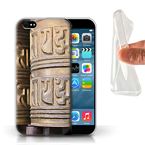 Stuff4 Gel TPU Hülle / Case für Apple iPhone 8 Plus / OM Tempel Muster / Innerer Frieden Kollektion Gebetsmühle
