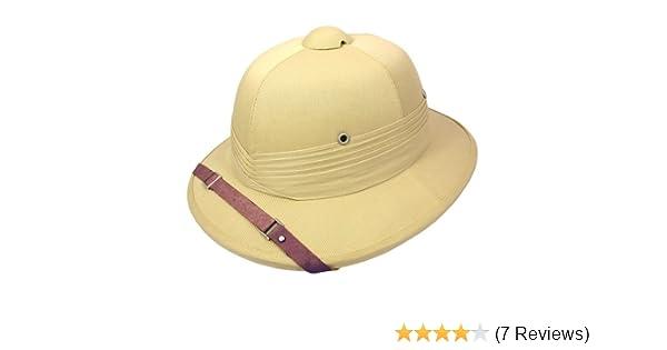 a960e22f56c Indian Pith Helmet - Big Head Version Adjustable Khaki  Amazon.co.uk   Clothing