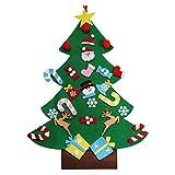 OULII Arbol de Navidad de Fieltro con 26pcs Adornos Arbol de Navidad Desmontables Año Nuevo...