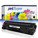 jetType Toner ersetzt HP CE278A / 78A für LaserJet P1606dn, P1566 / Professional P1606dn, schwarz, 2.100 Seiten