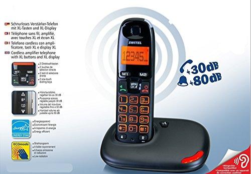 Handy Akku verstärkt für Senioren großen Tasten XL großes Display XL Volumen Stimme verstärkt 30Dezibel und Klingelton Verstärker 80Dezibel Lautstärke hoch Kompatibel Hörgeräte Hac Hörgeschädigte visuelle SIGNALLING Freisprecheinrichtung Anruf (Hörgerät Mode)