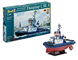 Revell 05213 - Harbour Tug Boat Fairplay 1/3/10 Kit di Modello in Plastica, Scala 1:144