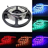 JOYLAND 12V Flexible RGB LED Strip Lights 300 Units 5050 LEDs, Non-waterproof LED Tape Multi-colors LED Strips Light Pack of 16.4ft/5m