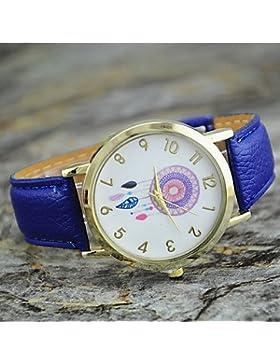Schöne Uhren, Frauen neue Art und Weise Persönlichkeit Traumfänger Lederarmbanduhr