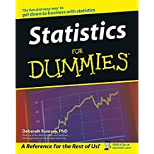 Statistics For Dummies by Deborah Rumsey (2003-09-19)
