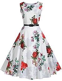 ULLA POPKEN Kleid mit Gürtel und floralem Print multicolor NEU
