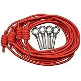 XIXI Longe de corde auxiliaire de yoga avec des accessoires dans l'air Yoga Hamac rouge (couleur aléatoire)