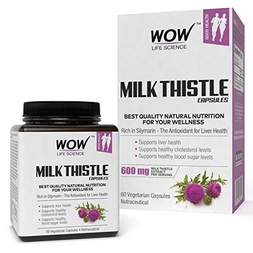 WOW Milk Thistle 600mg – 60 Vegetarian Capsules