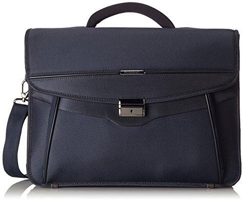 """Samsonite Briefcase 3 Gussets 15.6\"""" (Blue) -Desklite Aktentasche"""