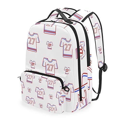 American Football Uniform Schulrucksäcke Abnehmbarer Studenten-Rucksack groß für Grundschulschultasche Büchertasche
