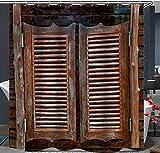AZZXZONa Rideaux De Salle De Bain en Polyester 100% Tissu Rayures Horizontales Porte...