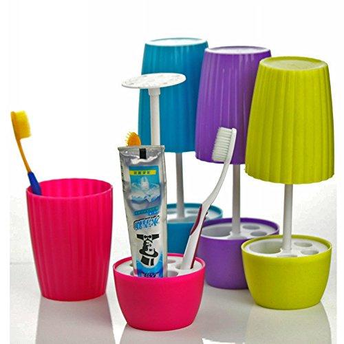 1PC Zahnbürste Behältergestell Kreativ Bonsai-Stil Tischleuchte Form putzbecher Zahnpasta Inhaber Badezimmer Zubehör