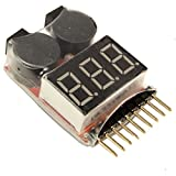 #6: LIPO battery Voltage Tester and Low Voltage Buzzer alarm 1-8 Cell LED Display