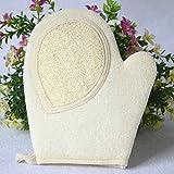 Portal Cool 1pc New Loofah Bath Glove Natrual BAthroom Rub Towel Deep Cleaning Exfoliating Wash Skin Spa Massage Body Care Scrubber