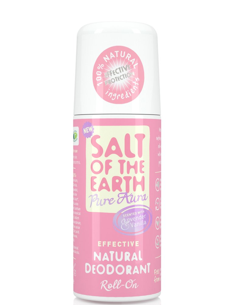 Salt of the Earth Lavender and Vanilla Natural Roll-on Deodorant 75ml