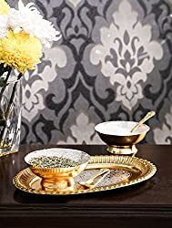 Royal Silver And Gold Plated serving set of 5 pcs.