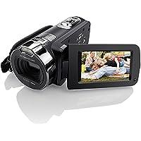 """Videocamere per videocamere, Eamplest HD 1080P 24MP 16X Videocamera digitale a zoom digitale con display da 2,7 """"e 270 gradi di rotazione Supporto LED di riempimento e funzione di rilevamento del viso"""