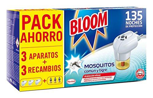 Bloom Electrico Líquido contra mosquitos común y tigre 3 Aparatos + 3 Recambios