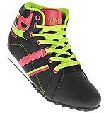 Bootsland 350 Hochschaft Sportschuhe Turnschuhe Sneaker Schnürschuhe, Schuhgröße:41