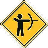 U24 Aufkleber Vorsicht Bogenschießen Autoaufkleber Sticker